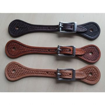 Spur Straps - Ladies with Basket Tooling